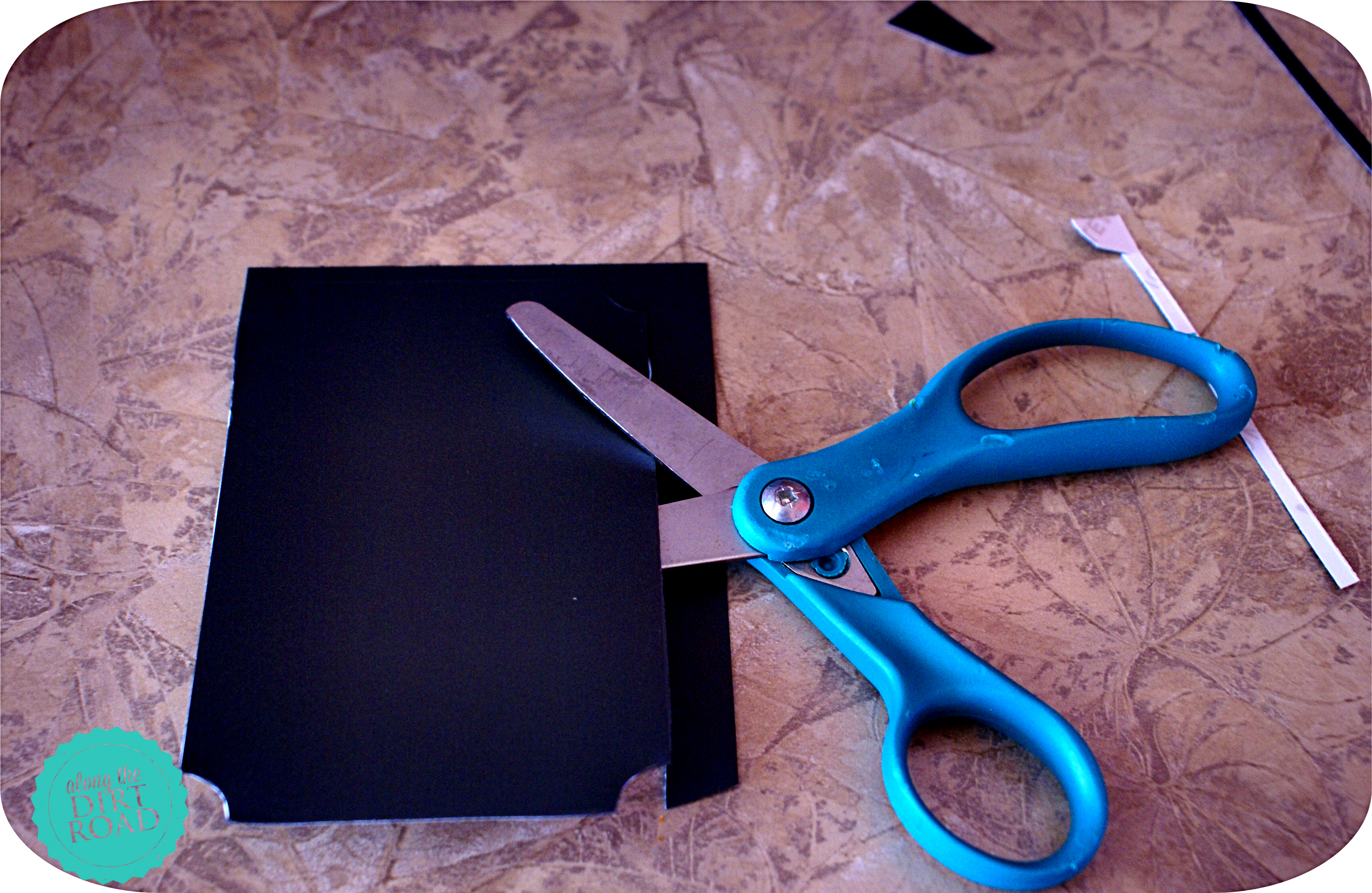 Be sure and be lazy at first and grab the closest scissors...that don't cut very well.  ;)